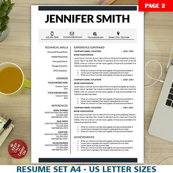 Student Resume Template, Internship Resume, CV Template + Cover - internship resume templates