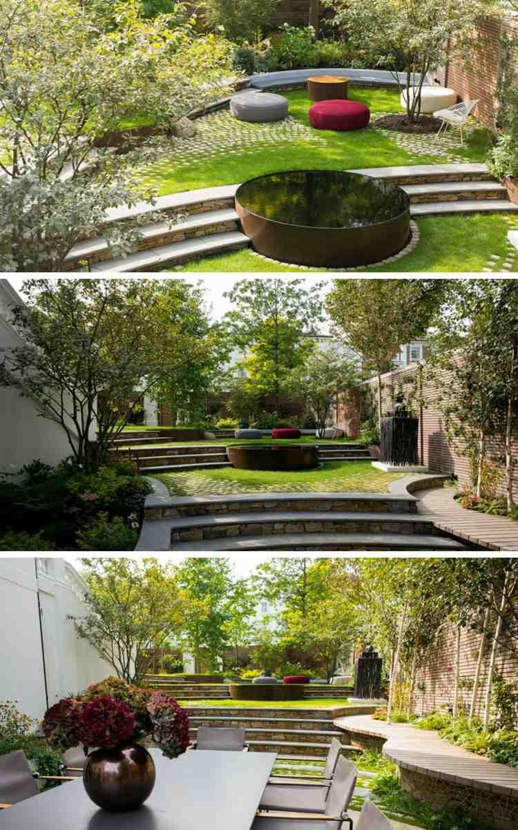 Terrasse Sur Terrain En Pente En 10 Idees D Amenagement Moderne Amenagement Jardin Amenagement Jardin En Pente Jardins