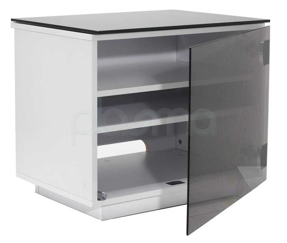 Barcelona High Gloss Black White Tv Stand 119 From The Plasma  # Table Tv Plasma Moderne En Verre