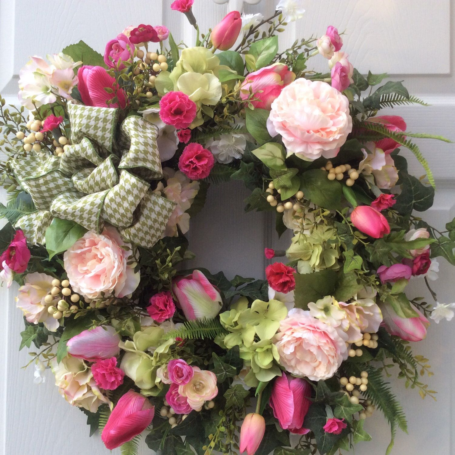 Spring Wreaths Valentine Wreath Hydrangea Wreath Front Door Decor Seasonal  Wreath