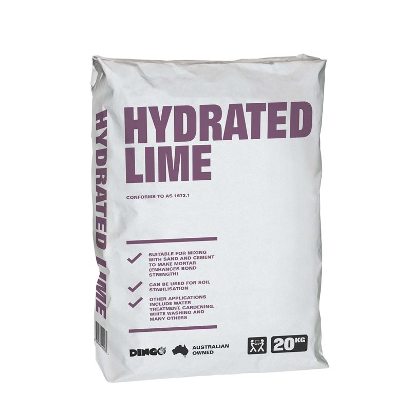 Dingo 20kg Hydrated Lime Hydration Lime Soil Stabilization
