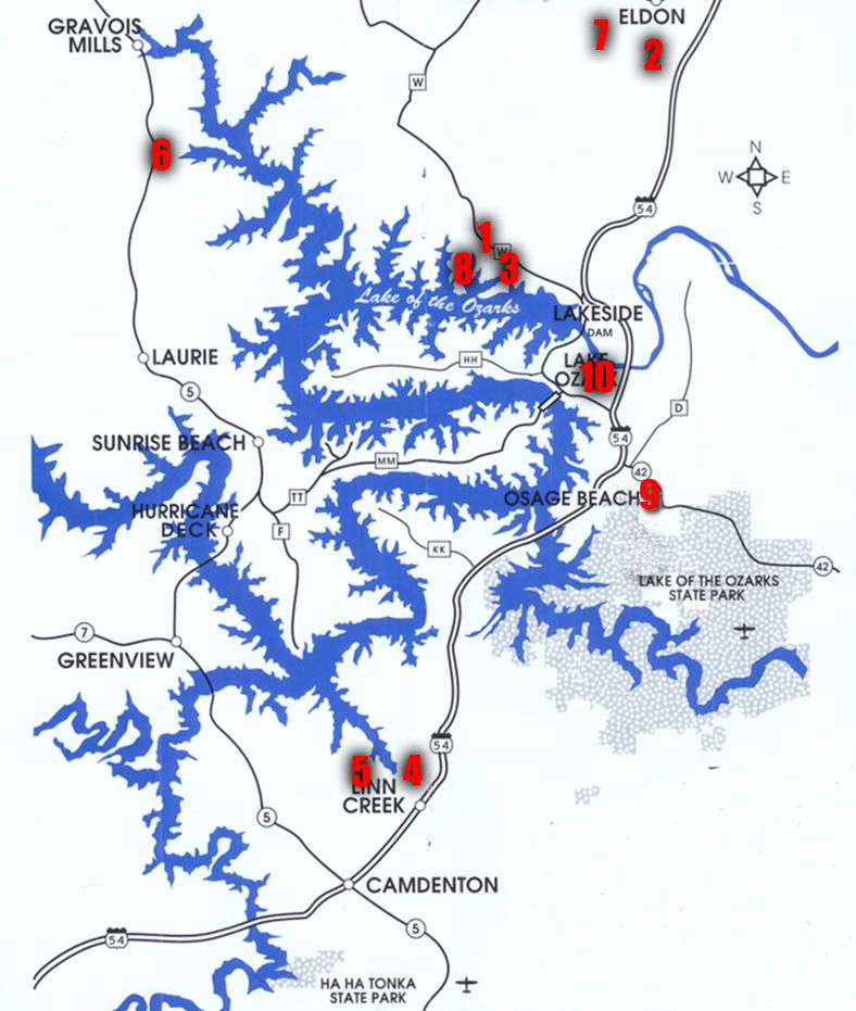 Lake Of The Ozarks Campgrounds List Lake Of The Ozark Pinterest