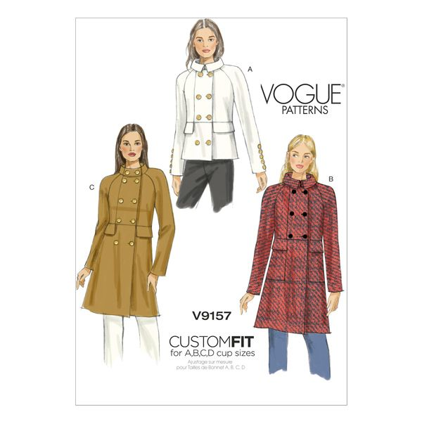 Jacke/Mantel, Vogue 9157 | 40 - 48 | Nähen | Pinterest | Vogue ...