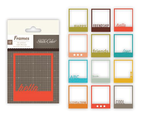 Polaroid frames-- studio calico. Would be easy to make custom ones with Cricut craft room....