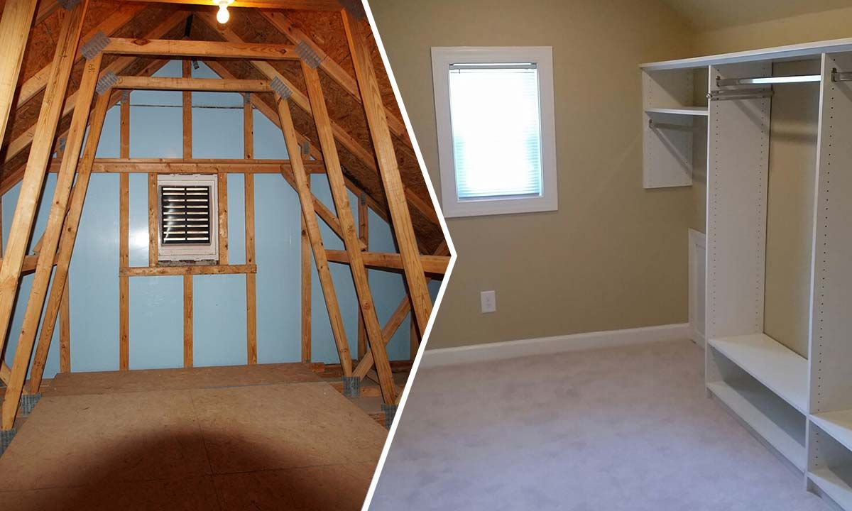 Finished Attics Before And After Attic Conversion Before And