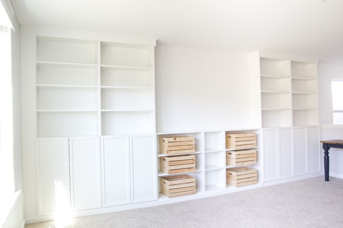 Diy Built Ins From Ikea Bookcases Orc Week 2 Bokhyllor Diy