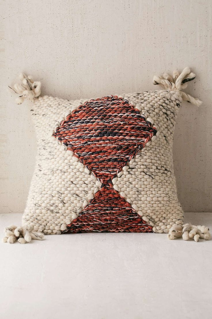 Marled Diamond Pillow Urban Outfitters Pillows