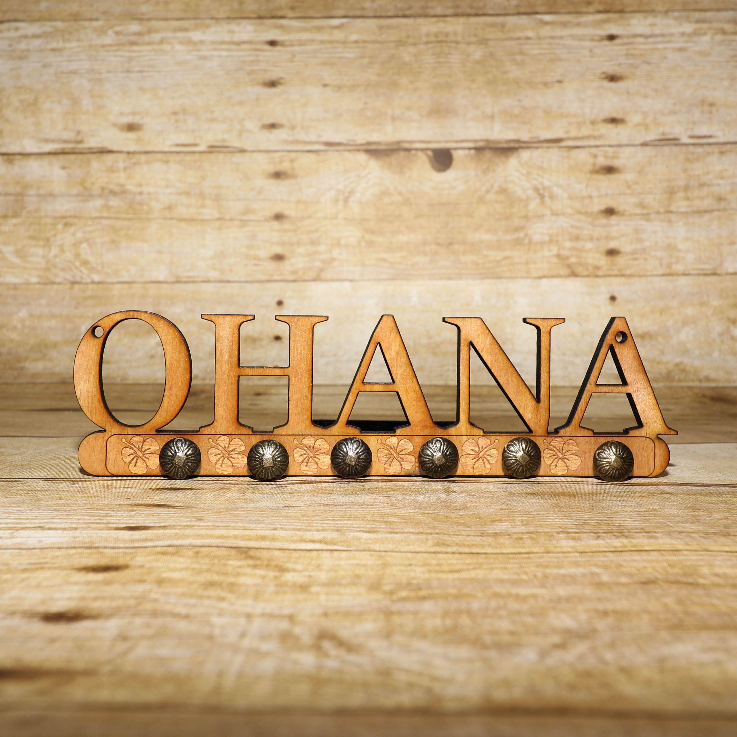 Wooden Custom Engraved Ohana Key Hanger | Living room kitchen ...