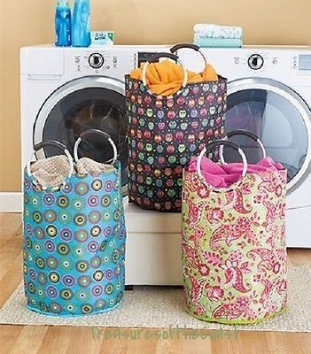 laundry basket hamper tote portable dorm clothes duffel beach bag