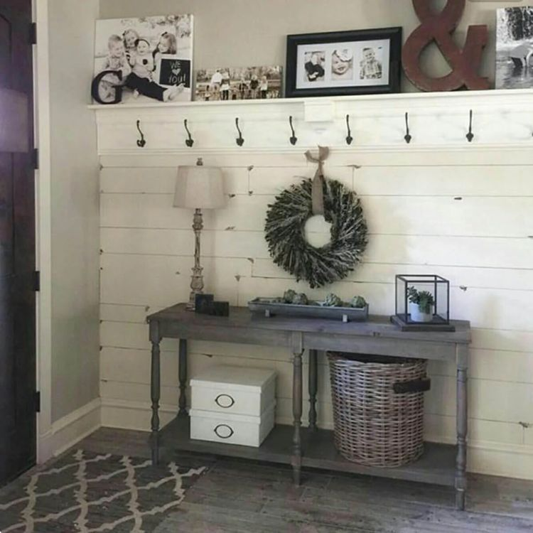 Versatile Shiplap Entryway #shiplap #shiplapwalls #shiplapfireplace #shiplapbathroom #accent #accentwall #accentchairs #accentwallideas #accenttable
