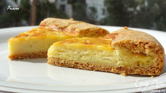 Фотография рецепта Луковый пирог с плавлеными сырками пользователя Римма | Портал кулинарных рецептов «Едим дома!»
