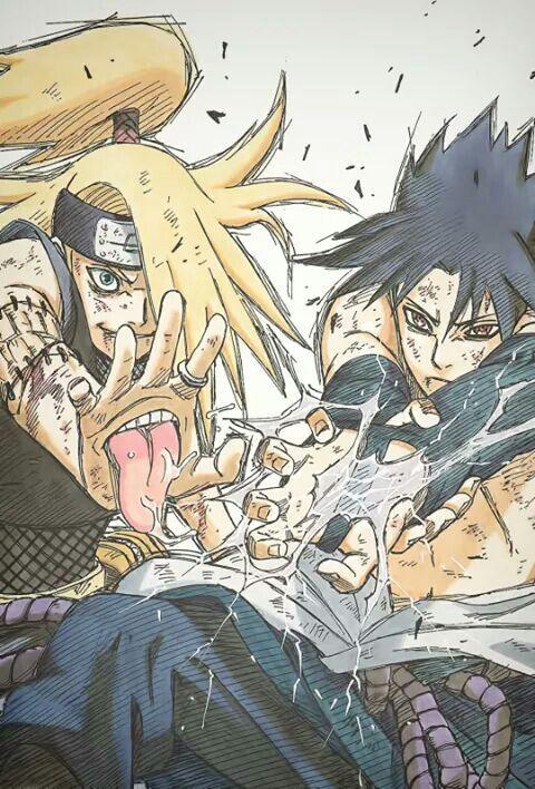 Sasuke and Deidare.. Their fight was great 👌