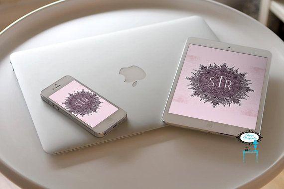 Cell Phone And Tablet Wallpaper Shaman Inspired Sacred Art Monogram Personalized Wallpaper Custo Personalized Wallpaper Tablet Wallpaper Custom Wallpaper