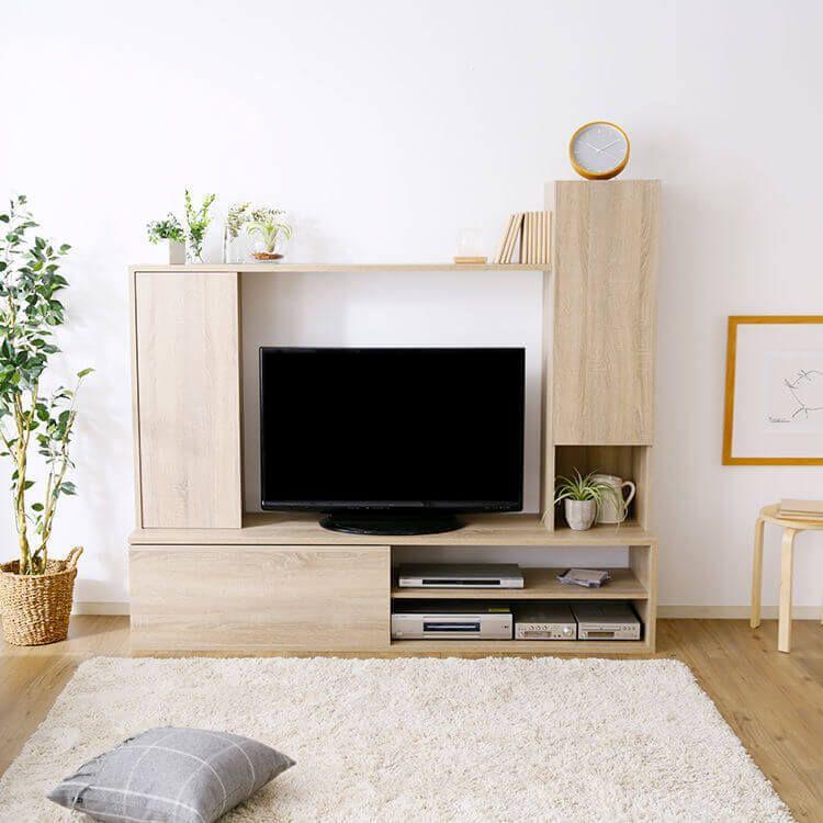 壁面収納 テレビ ハイタイプ テレビ台 壁面 収納 テレビボード 32インチ 32型 42インチ 42型 Tv台 棚 木製 Tvボード Avボード テレビラック ラック 一体型 180 180cm インテリア 家具 部屋 インテリア 壁面収納