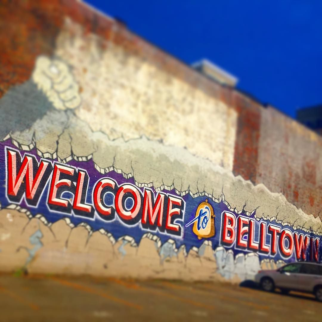 Welcome to Belltown #mural #publicart #seattletype