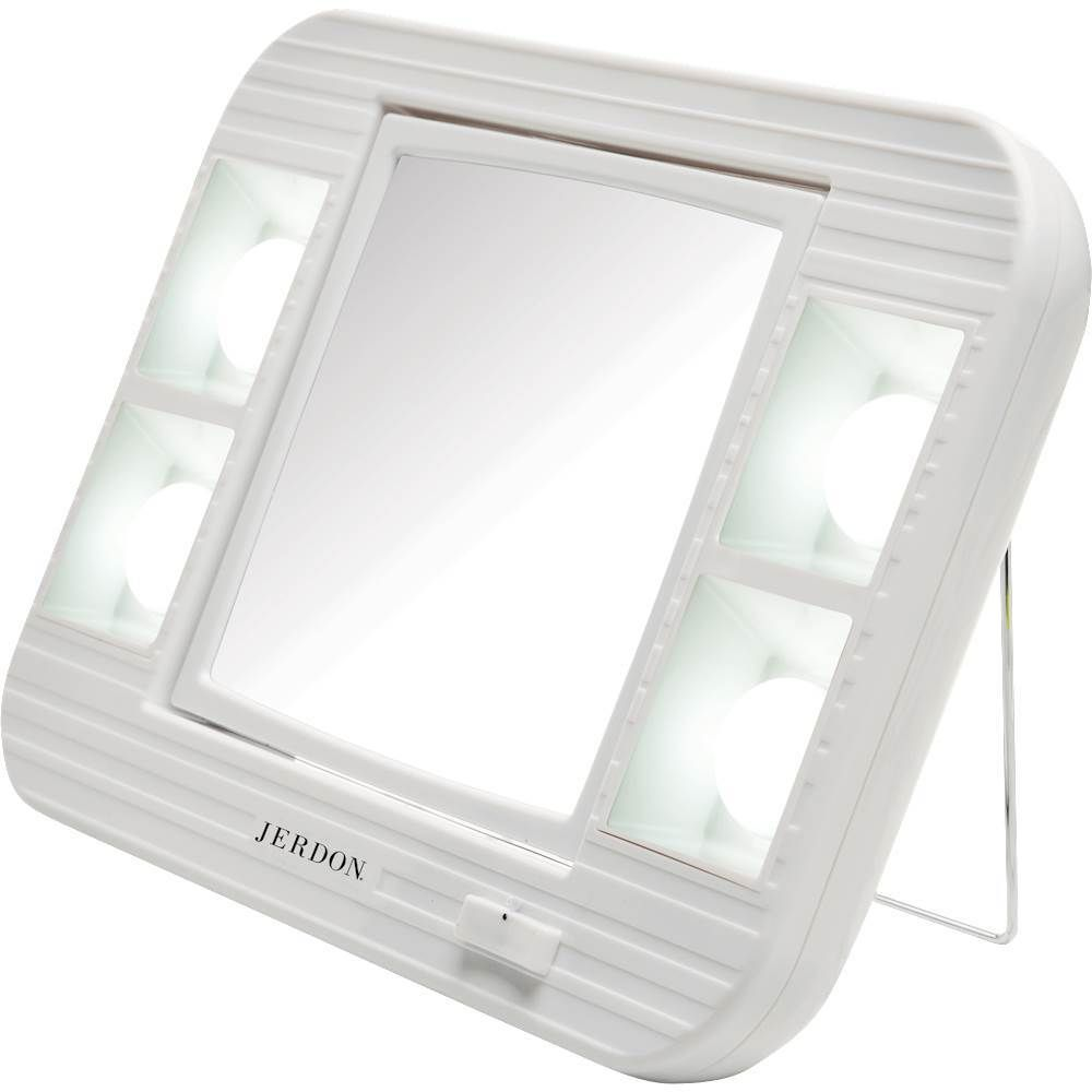 Jerdon Led Lighted Makeup Mirror White Jer J101s Makeup