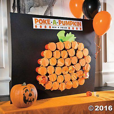 Classic Halloween Poke-a-Pumpkin Game Idea Fall classroom party - halloween party ideas for preschoolers