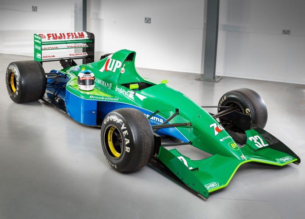 Michael Schumacher\'s First Formula 1 Car the 7UP Jordan Ford 191 ...