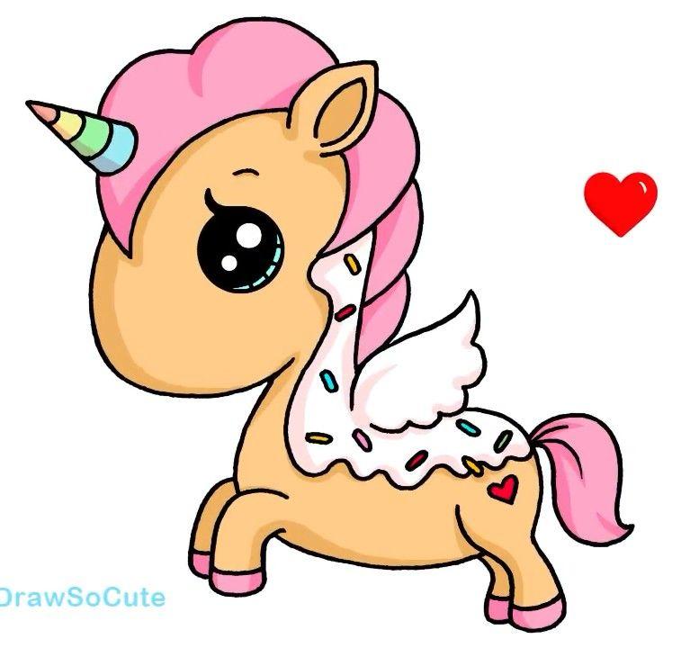 Donut Unicorn Dibujos Kawaii Dibujos De Unicornios Dibujos