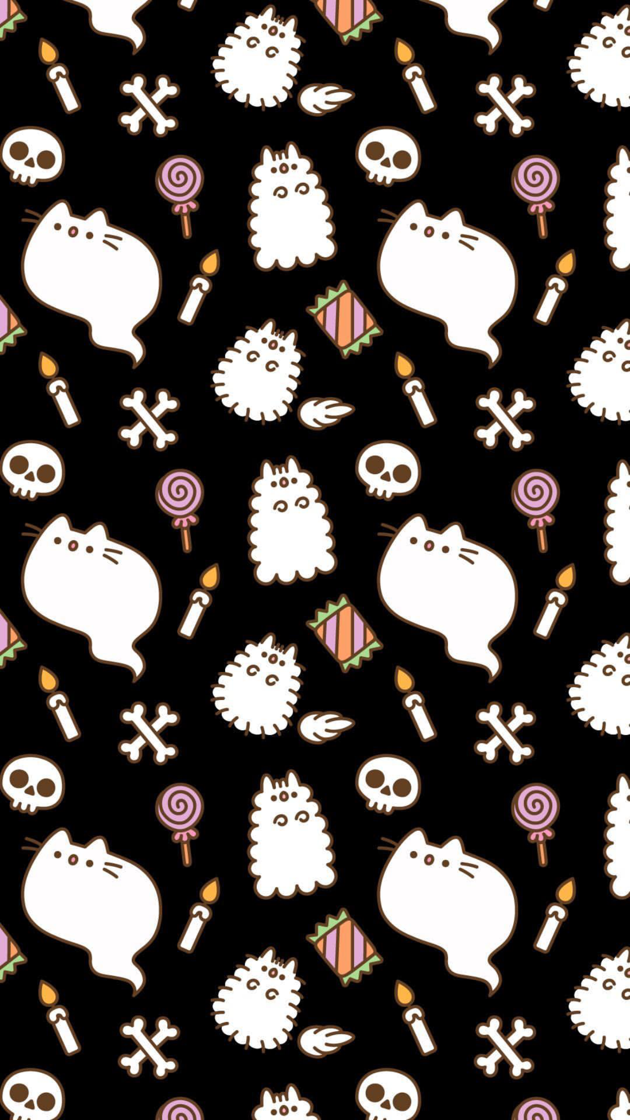 Pin by Jessica Grant 🦄 on Pusheen Halloween wallpaper