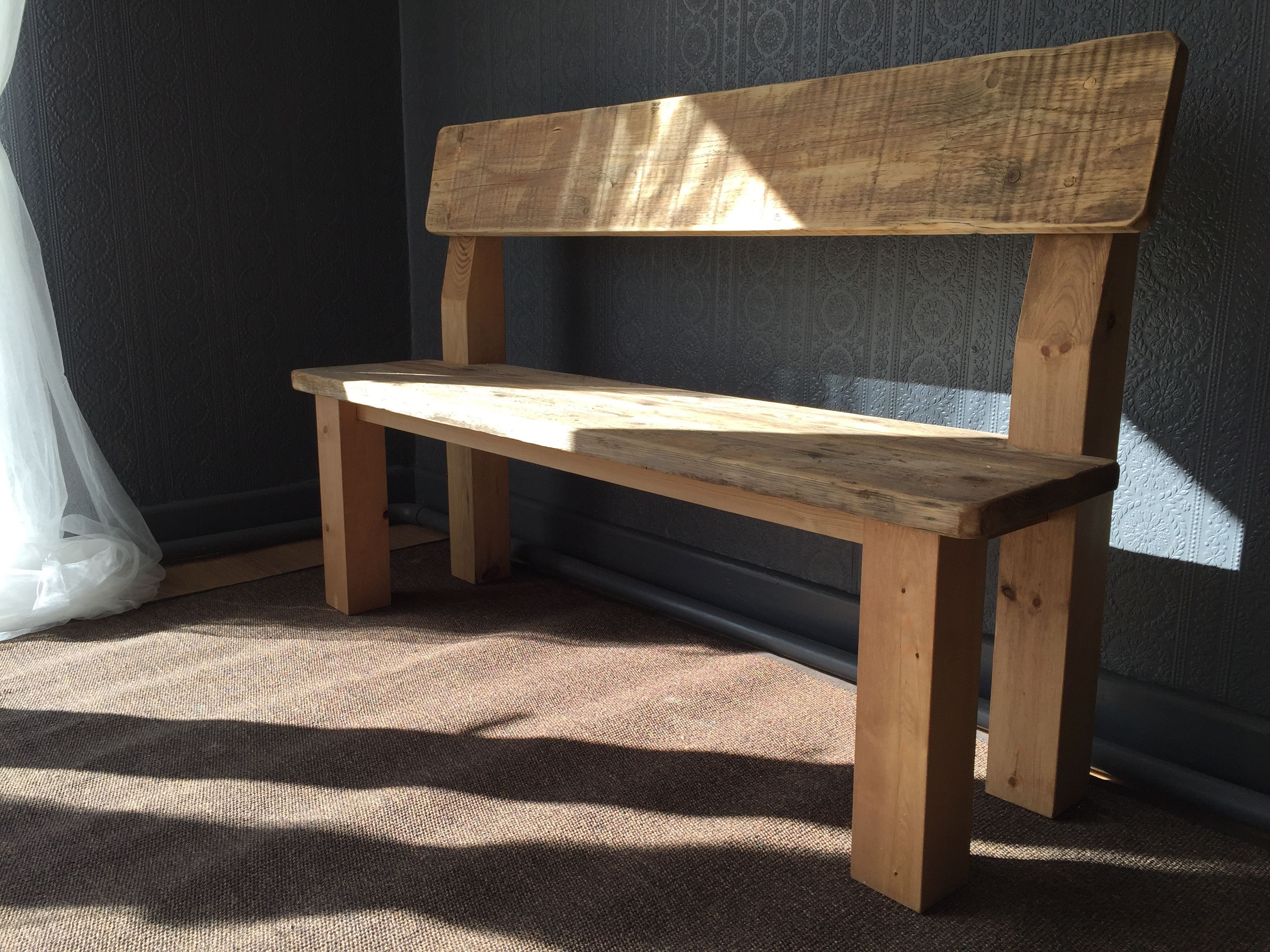 Dining Bench With Back Rest Handmadebench