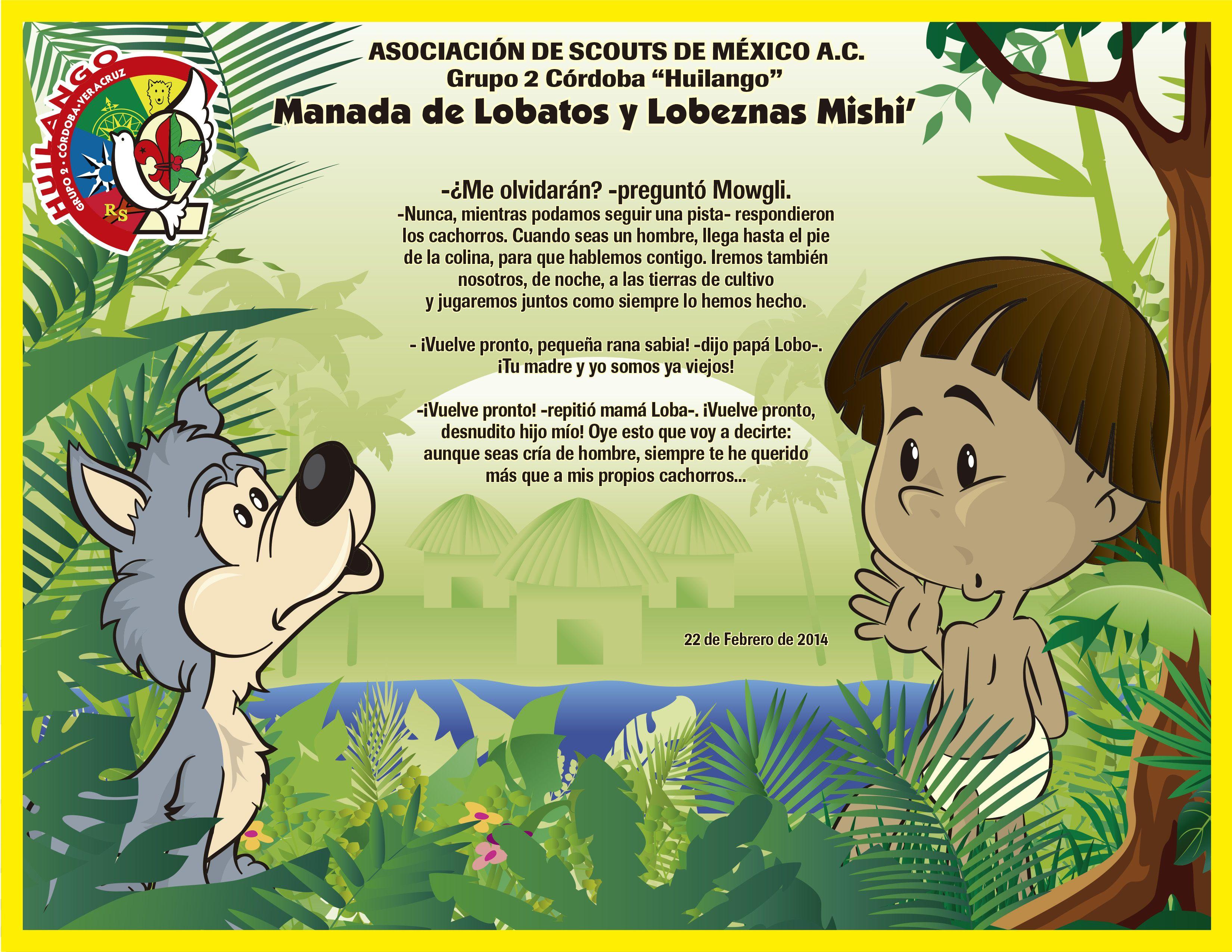 Adios A La Manada Reconocimiento Para Lobatos Que Parten A Tropa Scout Scouts De Mexico Ilustración Lobo Dibujo De Lobos
