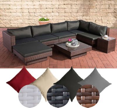Poly-Rattan Gartenmöbel Lounge-Set TUNIS, 6 Sitzplätze, Lounge Sofa