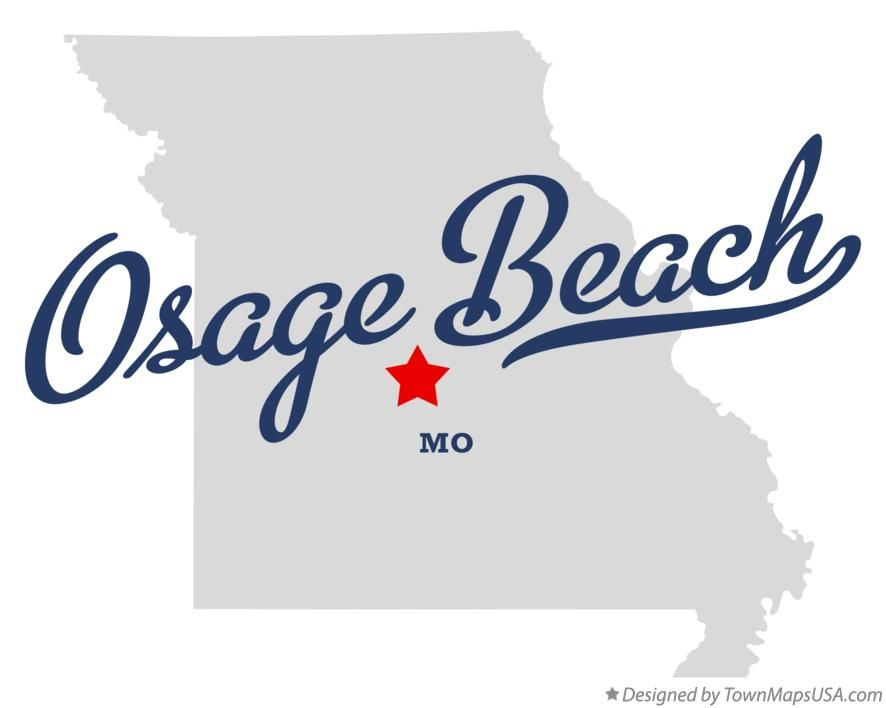 Map Of Osage Beach Missouri Mo With