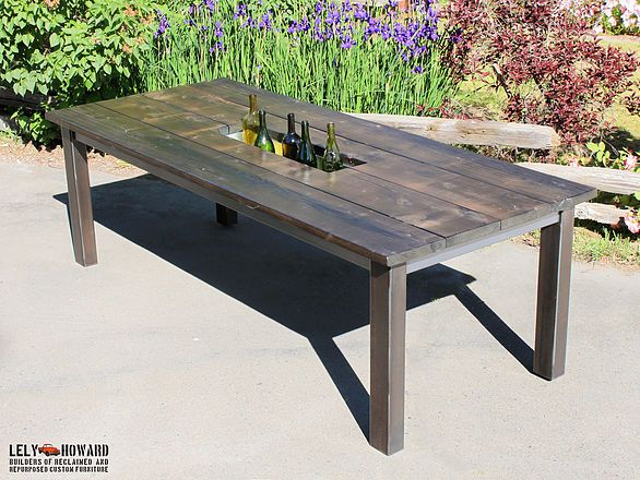 industrial style outdoor furniture. Farmhouse And Industrial Style Dining Tables Built From Reclaimed Materials Outdoor Furniture T