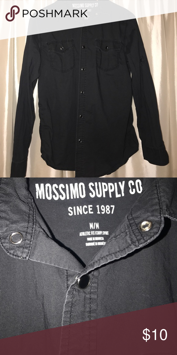 Mossimo Supply Co Men S Medium Black Button Down My Posh Picks