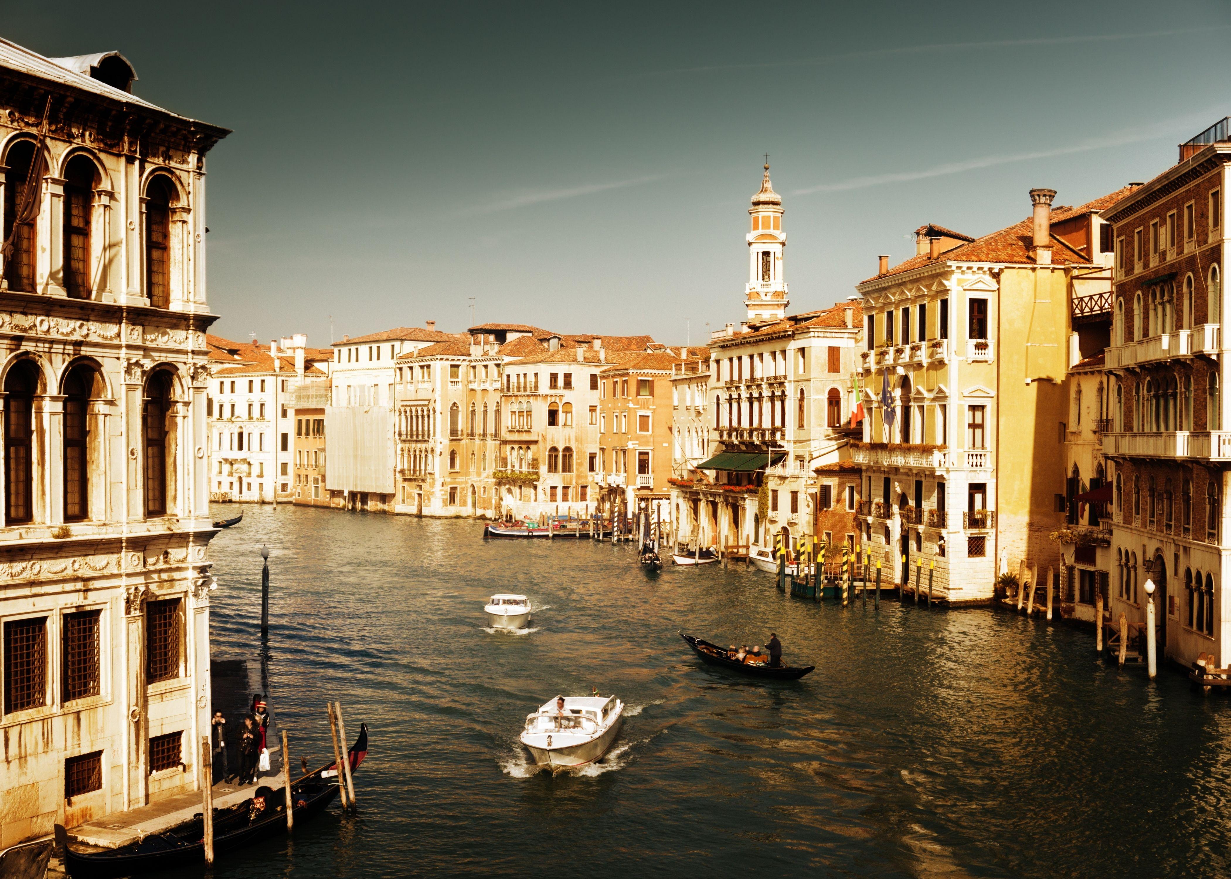 Обои лодка, канал, венеция. Города foto 14
