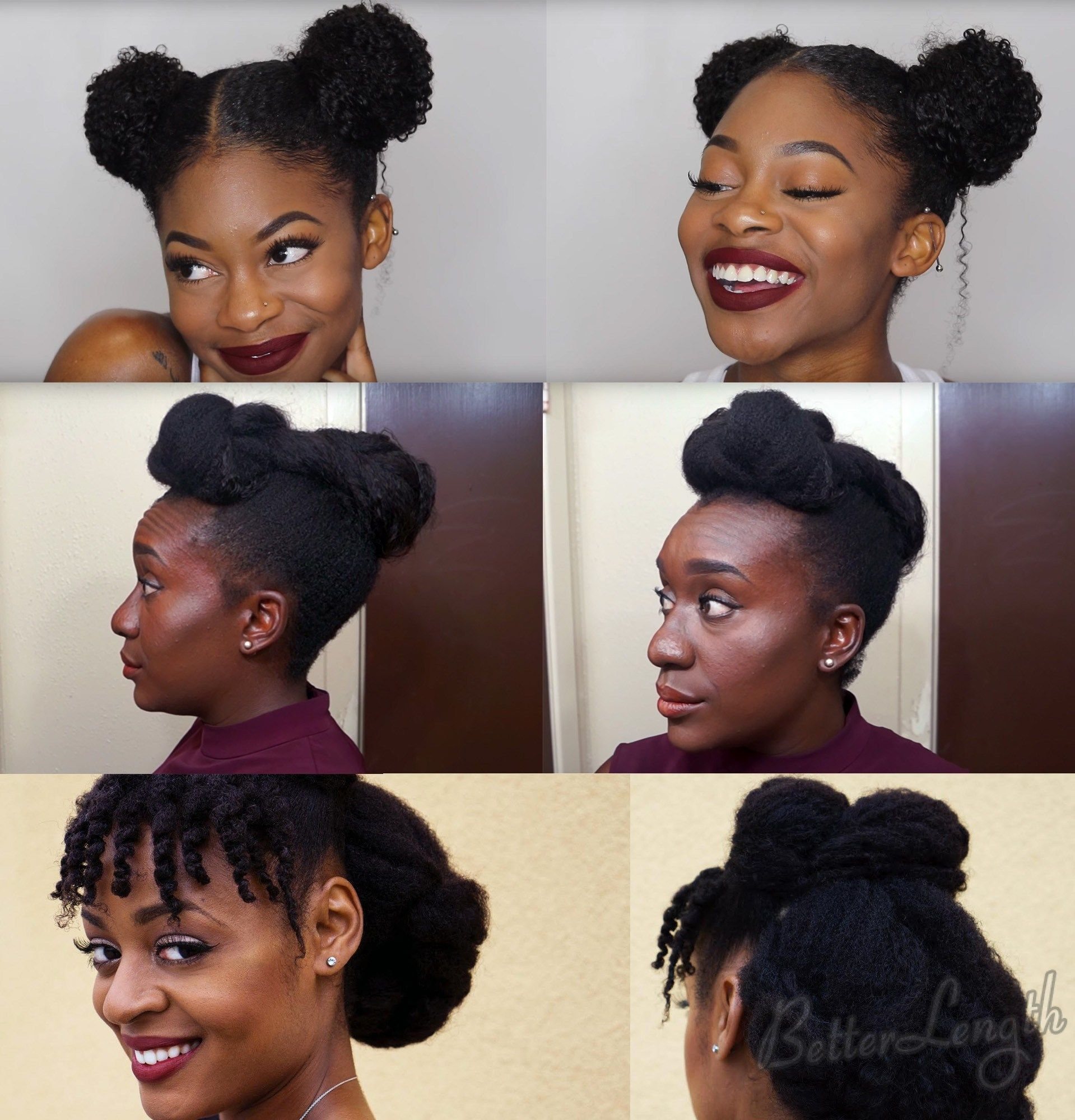 Top 6 Quick Amp Easy Natural Hair Updos Natural Updo