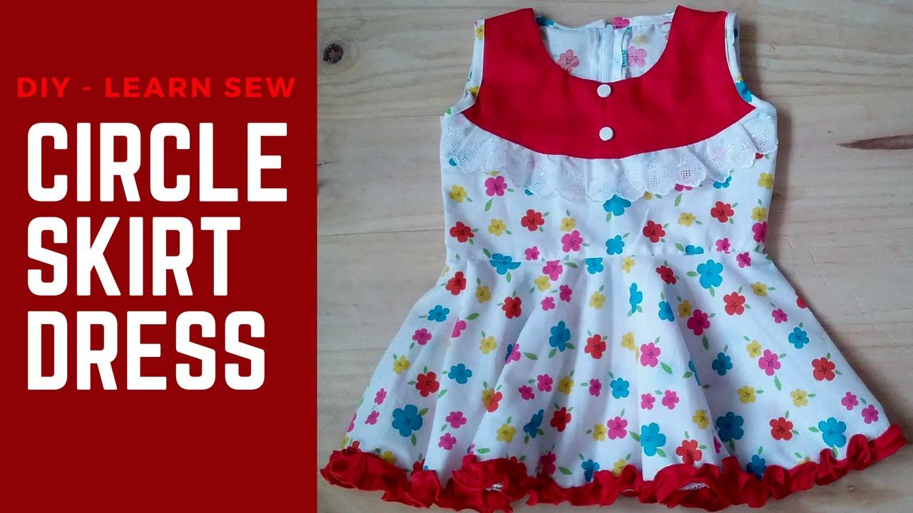 How to sew Circle Skirt Dress without Pattern Circle