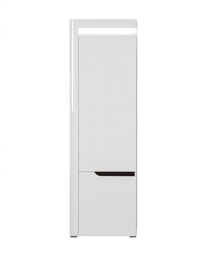 Closed Bookcase Irma Im8 White Gloss LED