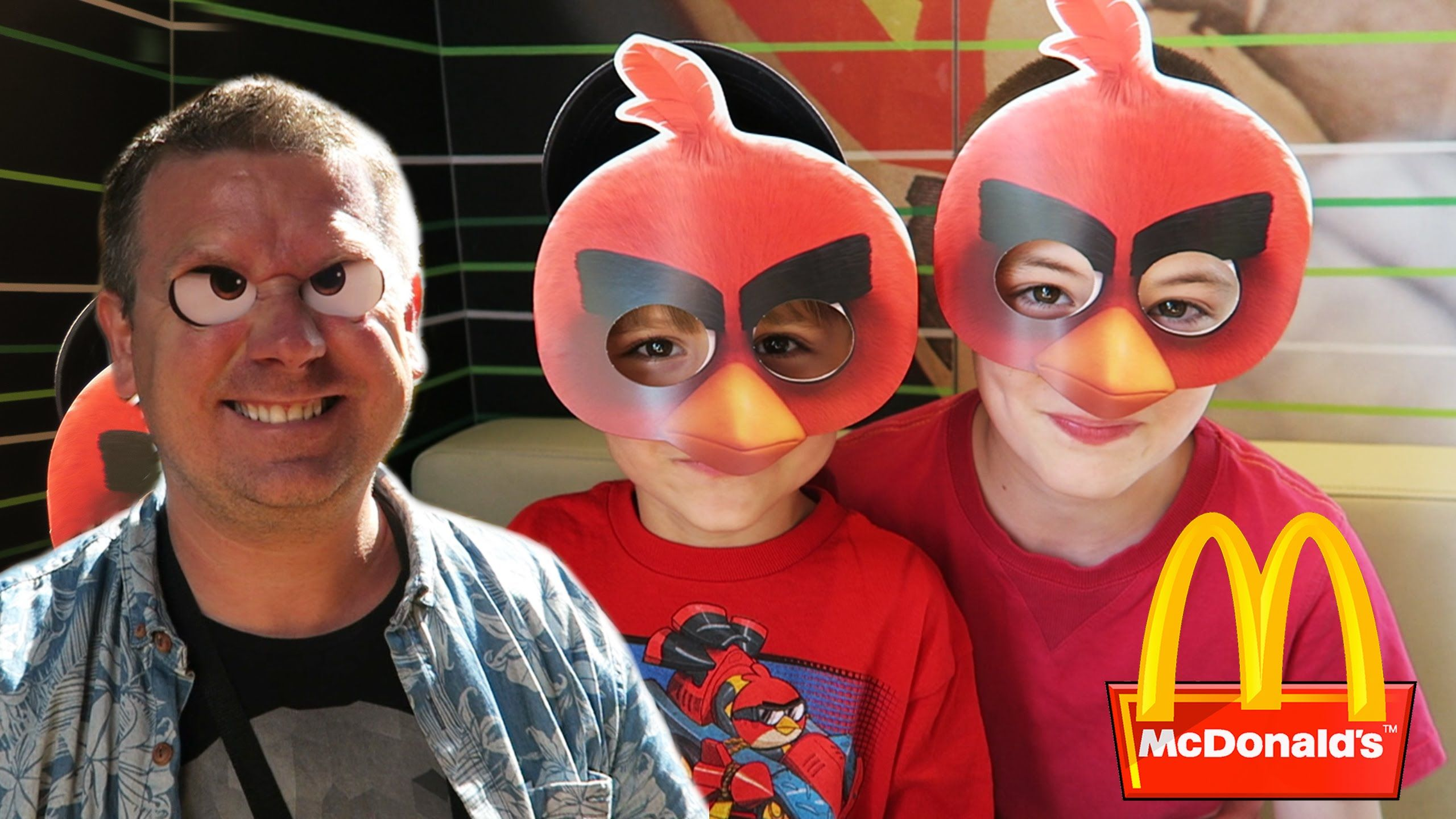 mcdonald's happy meal toys - the angry birds movie day | for kids