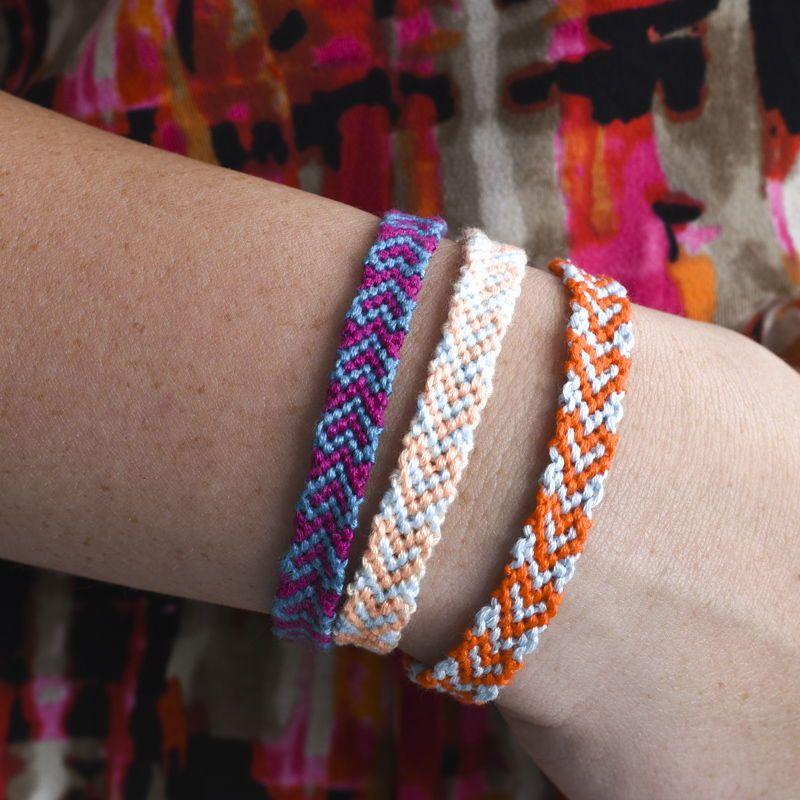 Heart Friendship Bracelets Bracelet Template Making Camp Craft Ideas Summer Crafts Best Friend