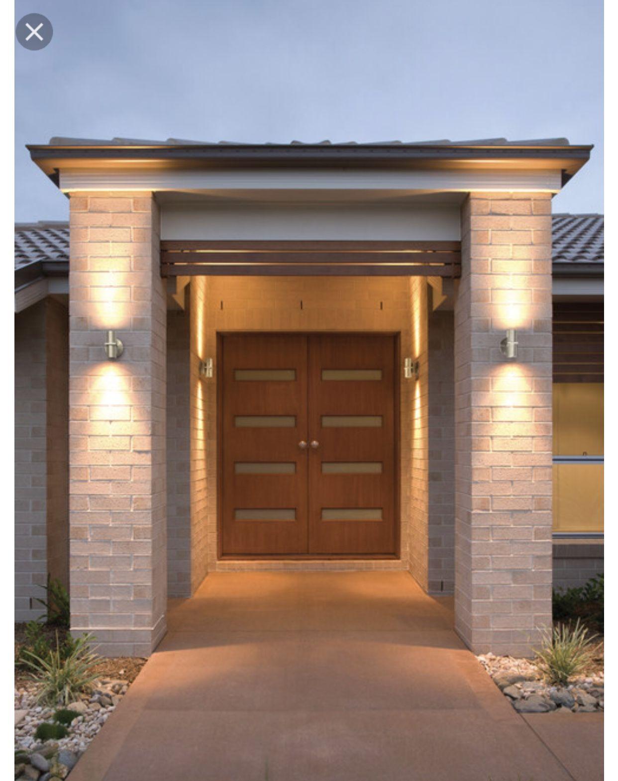 front gate entrance lighting exterior