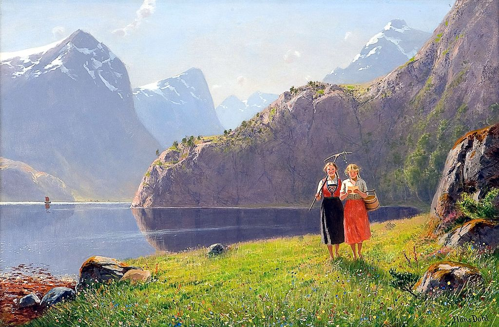 Summerday by Balestrand by Hans Dahl