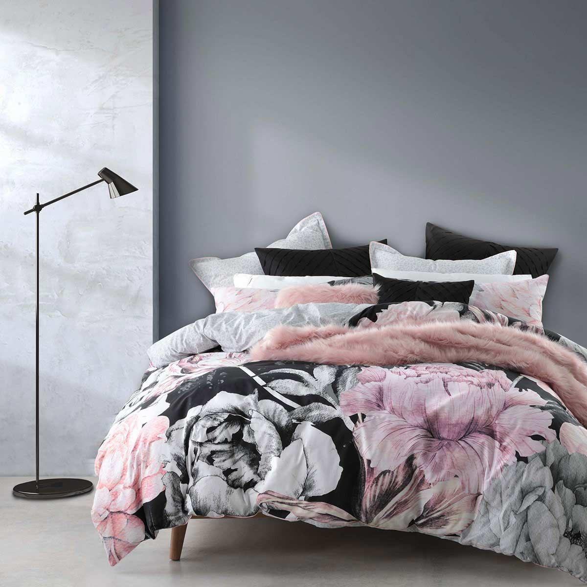 Black Led Light Bed Set