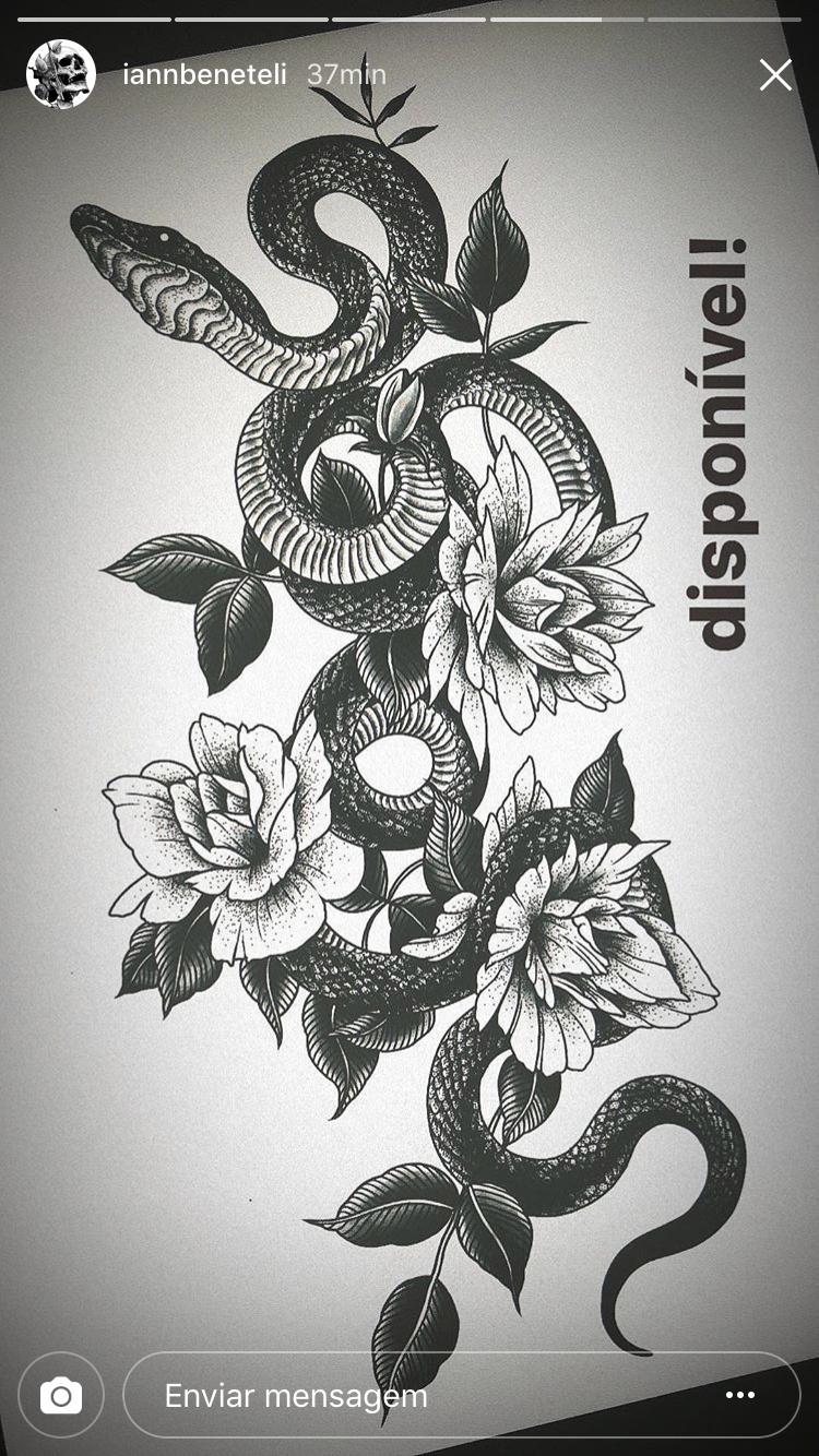 Word tattoo cover up ideas blackwork snake and flowers by iannbeneteli  tattooart
