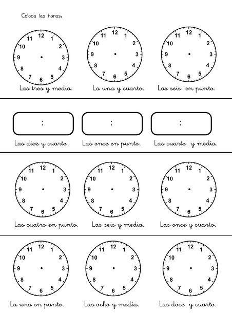 Aprender Las Horas En Infantil Y Primaria Fichas Con Ejercicios Para A Fichas De Matematicas Ejercicios Matematicas 3 Primaria Ejercicios Matematicas Primaria