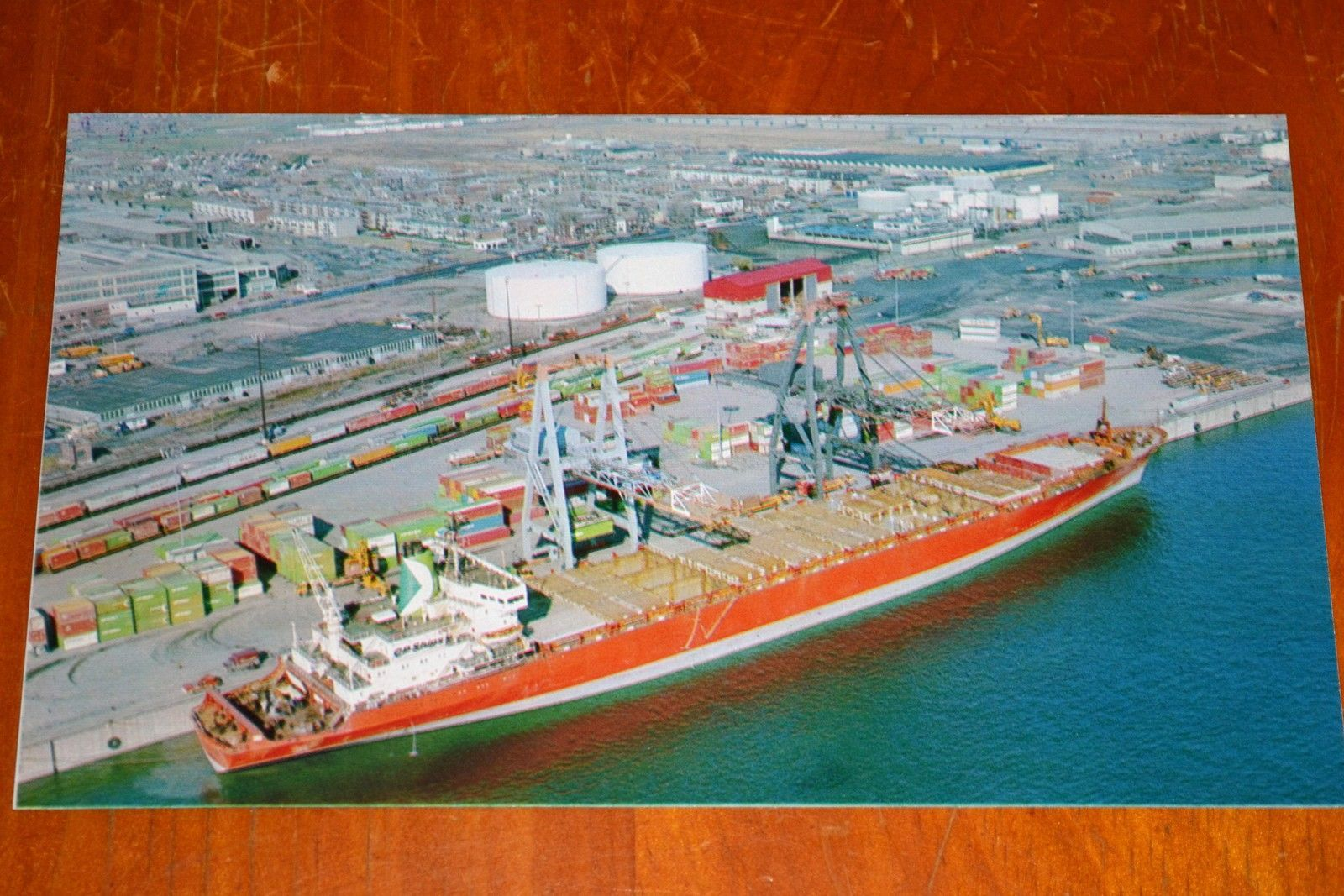 80S PHOTO CP CANADIAN PACIFIC CARGO SHIP DOCKED AT PORT OF MONTREAL