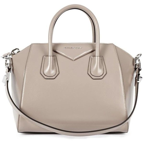 Givenchy Antigona small taupe leather tote found on Polyvore. Givenchy  Antigona small taupe leather tote found on Polyvore Givenchy Handbags ... b6f21e15f4467