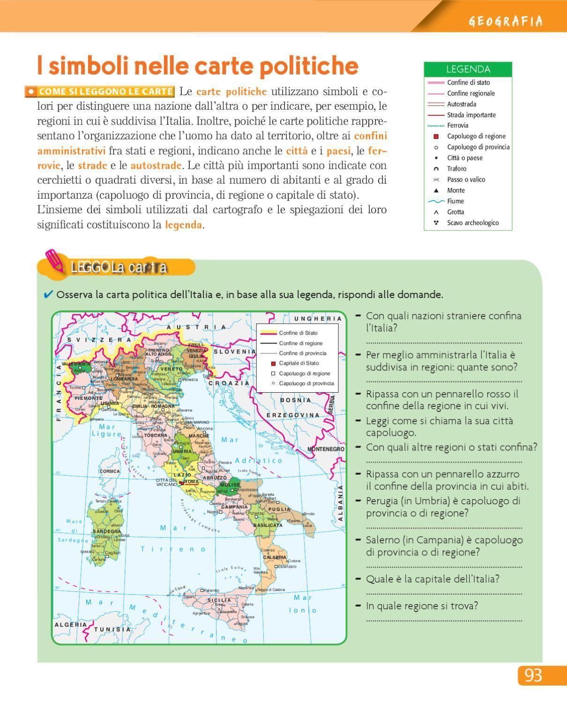 Urra 4 Geografia Mappa Dell Italia E Schede Di Matematica