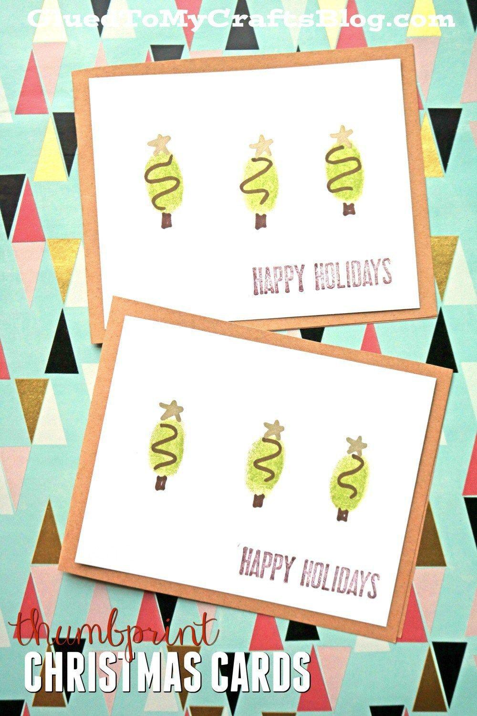 Thumbprint christmas cards kid craft christmas cards cards and