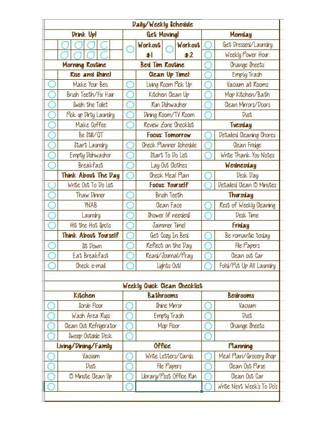 Daily And Weekly Detailed Cleaning Checklist By Eycstudio On Etsy