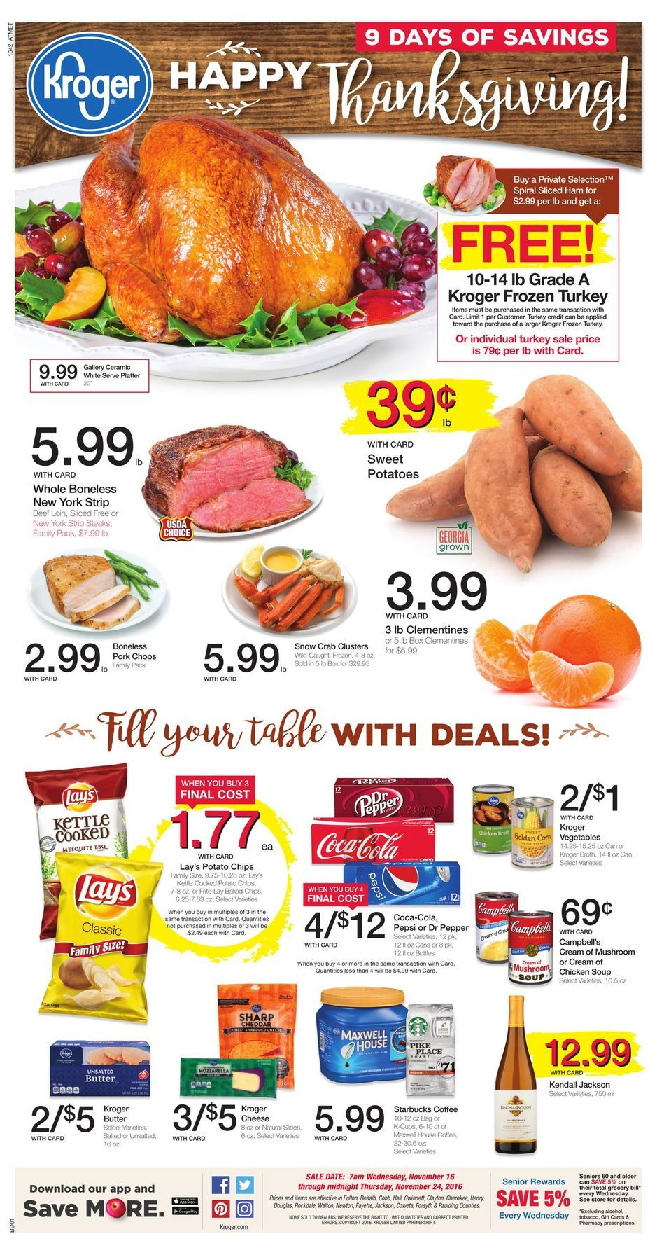 Kroger Weekly Ad Thanksgiving Turkey Sales Http Krogeraddict Com Kroger Weekly Ad Circular And Coupons Cooking Recipes Desserts Kroger Weekly Ads