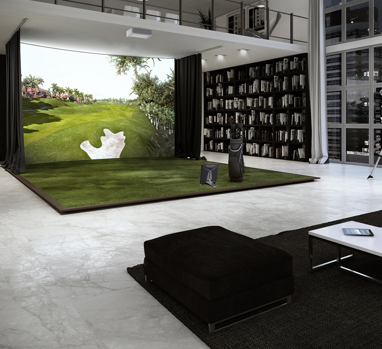 Fantastic Indoor Golf Simulator Basement In 2019 Golf Simulators Gmtry Best Dining Table And Chair Ideas Images Gmtryco