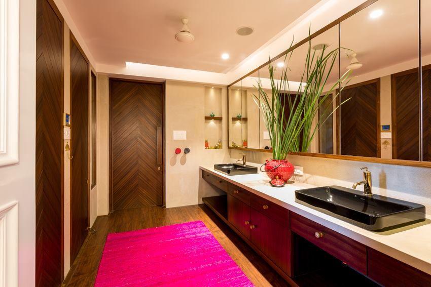 inside parineetis mumbai home parineeti choprabathroom designsarchitects design - Bathroom Designs In Mumbai