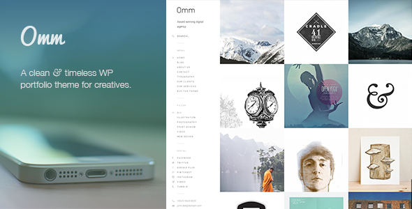 Omm: a carefully handcrafted, clean, minimal & responsive WP ...